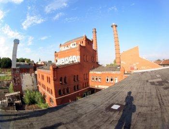 Dach der Brauerei