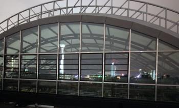 Blick in die Glaskuppel