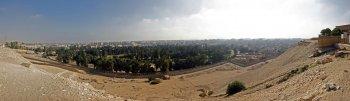 Blick vom Pyramidenplateau nach Kairo