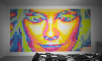 Kirsten Dunst aus Post-Its
