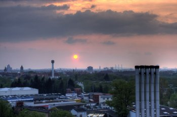 HDRI mit Sonnenuntergang