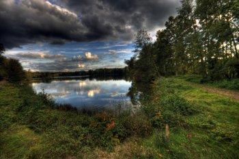 HDRI von einem kleinen See in Bayern