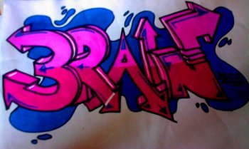 """Brain"" Graffiti von Lisa"